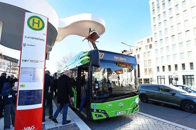 Freiburgs erste Elektro-Busse gehen in den Testbetrieb