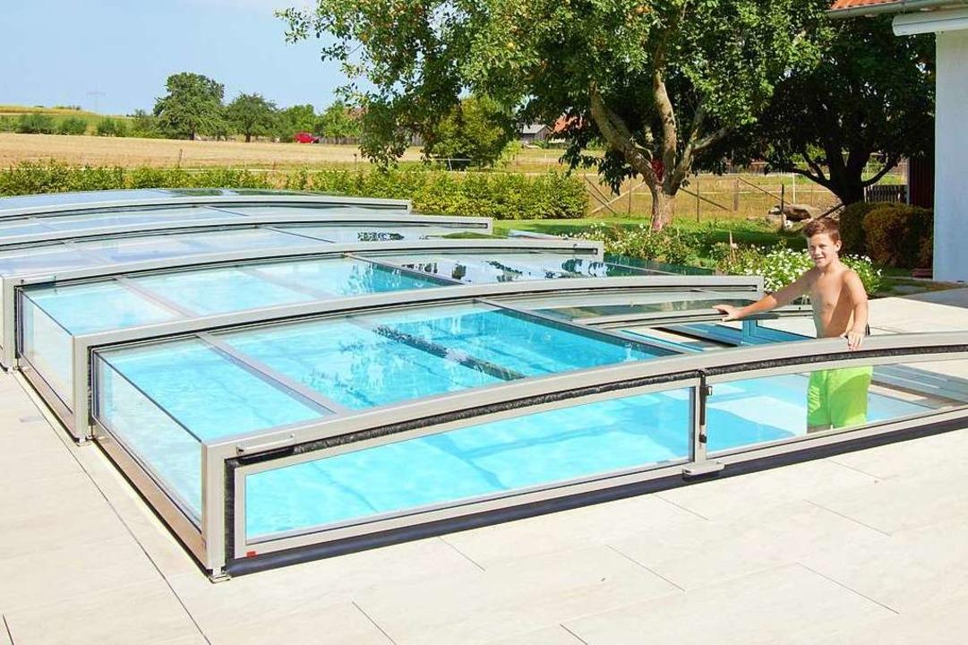 Einen Preis bekamen die Pool-Abdeckungen von Paradiso.  | Foto: Paradiso