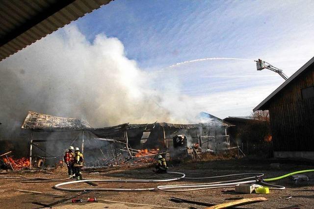 Brand zerstört Schopf in Burkheimer Gemeinschaftsschopfanlage