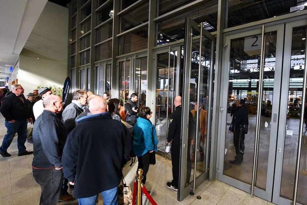 Die Messehalle 2 wurde nach dem Vorfall gesperrt.  | Foto: Rita Eggstein