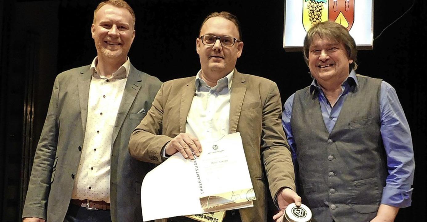 <BZ-FotoAnlauf>FC Auggen: </BZ-FotoAnl...eauftragter Bruno Trenkle (von links)   | Foto: Privat