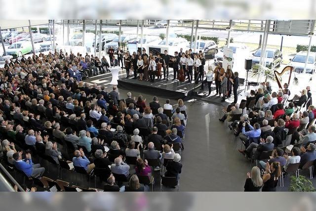 Musikgenuss im Audi-Hangar