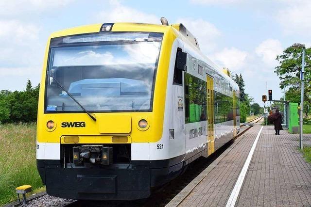 SWEG stellt den Zugverkehr ab Sonntagabend schrittweise ein