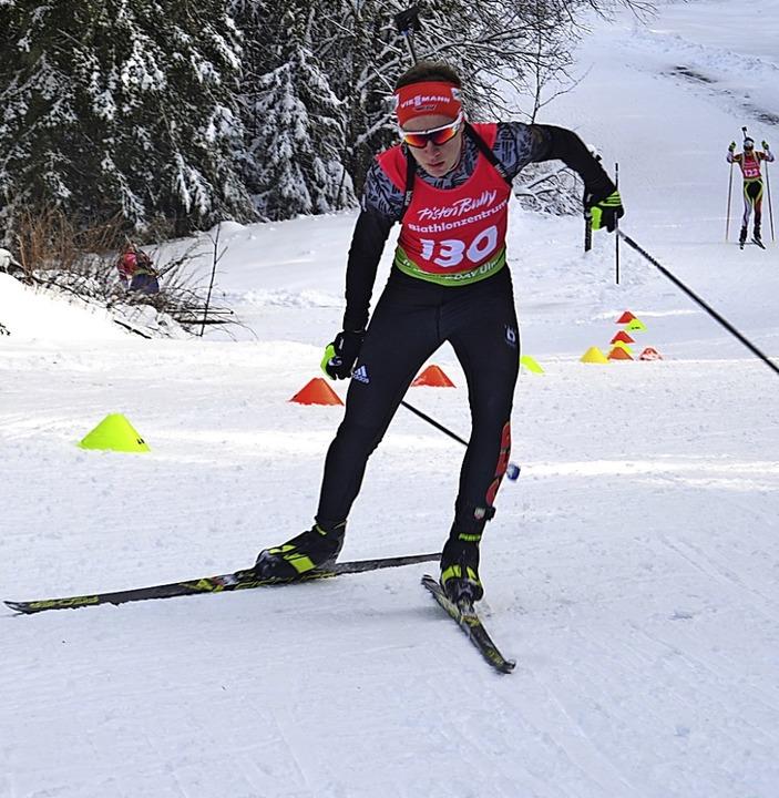 Mit Druck auf dem Ski beim Supersprint...eger Diogo Martins vom SC Hinterzarten  | Foto: Helmut Junkel
