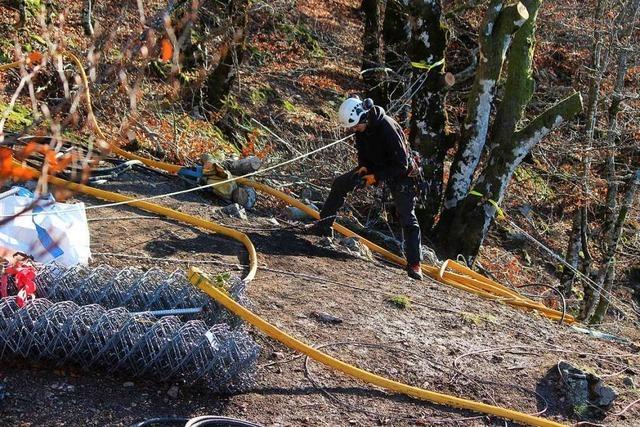 Ingenieurgruppe Geotechnik koordiniert Schutzmaßnahmen vor Felssturz