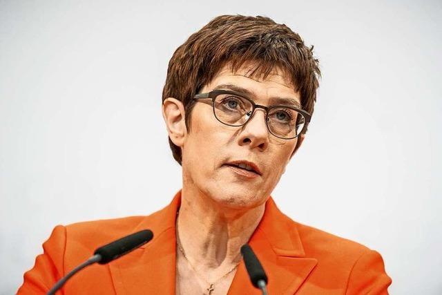 Annegret Kramp-Karrenbauer: Entscheidung zum Rücktritt ist seit geraumer Zeit gereift