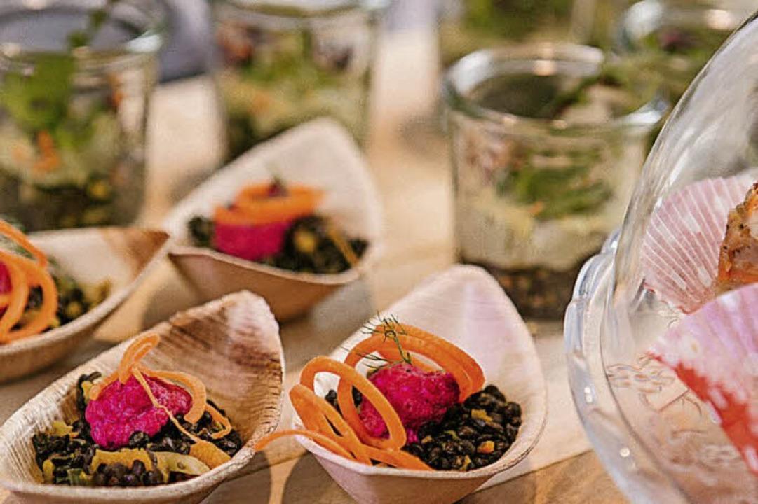Regional, saisonal und lecker: das Hochzeitsbuffet  | Foto: Silvia Wolf