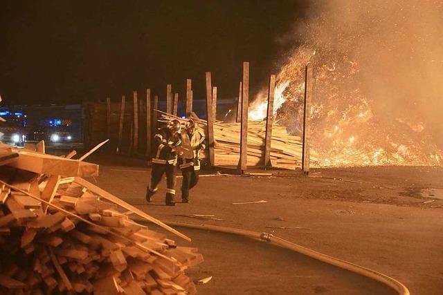 Großbrand im Sägewerk Schilliger in Volgelsheim