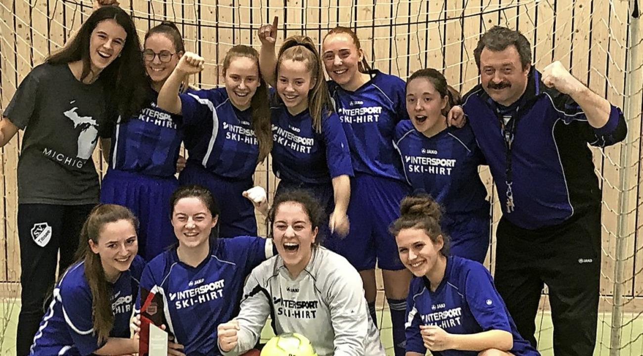 Futsalmeister:  Die B-Mädchen des SV T...Schwenningen den Bezirksmeistertitel.   | Foto: Holger  Rohde