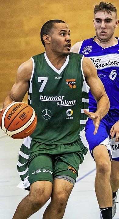 <BZ-FotoAnlauf>Basketball:</BZ-FotoAnl...Grigsby mit Lörrach eine herbe Abfuhr.  | Foto: Sebastian Sternemann