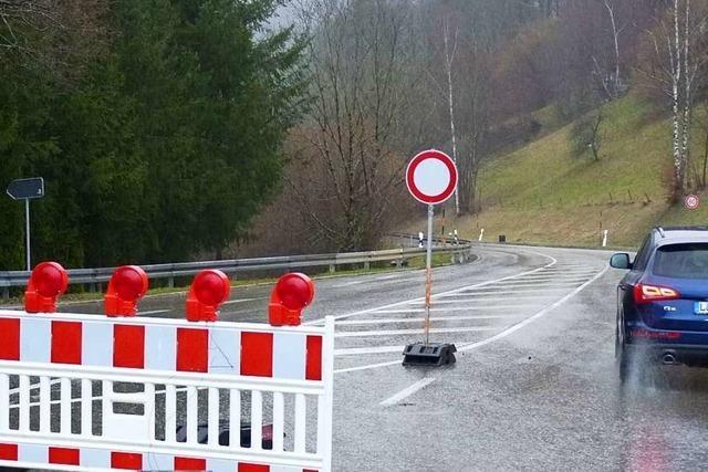 Autofahrer ignorieren Straßensperren im Oberen Wiesental