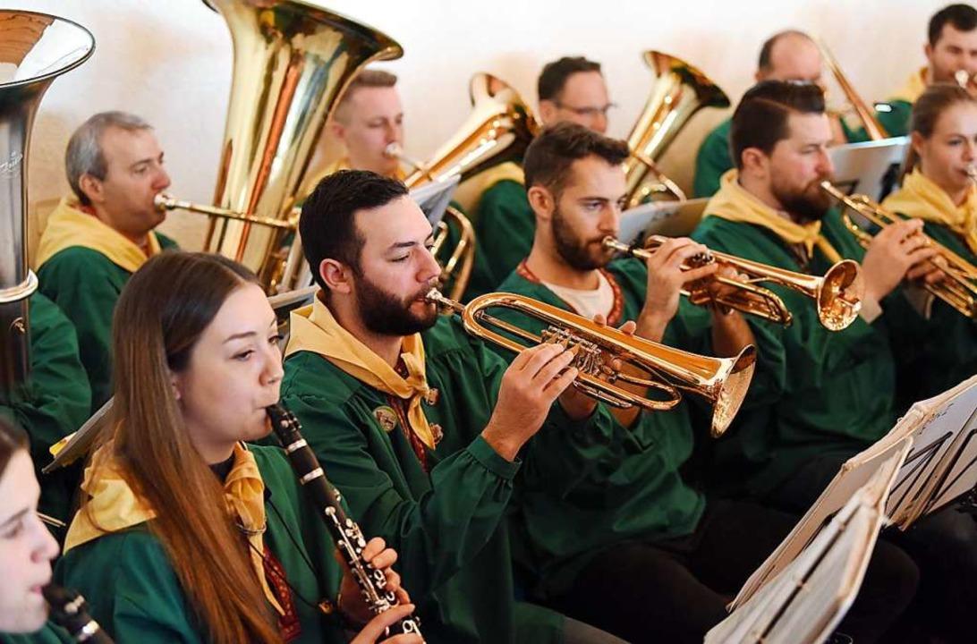 Ordentlich den Marsch geblasen bekamen...zentrum vom St. Georgener Musikverein.  | Foto: Rita Eggstein