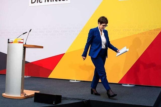 Das sagen Freiburger CDU-Politiker zum Rücktritt von Annegret Kramp-Karrenbauer