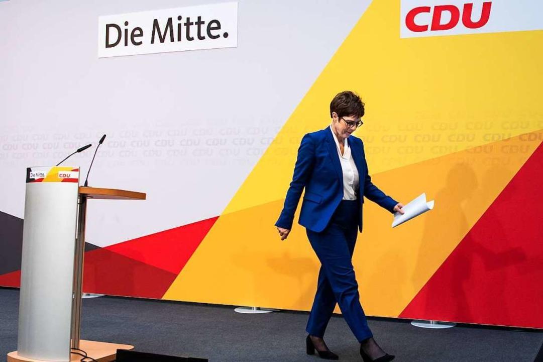 Wie geht es mit der CDU weiter?    Foto: Bernd von Jutrczenka (dpa)