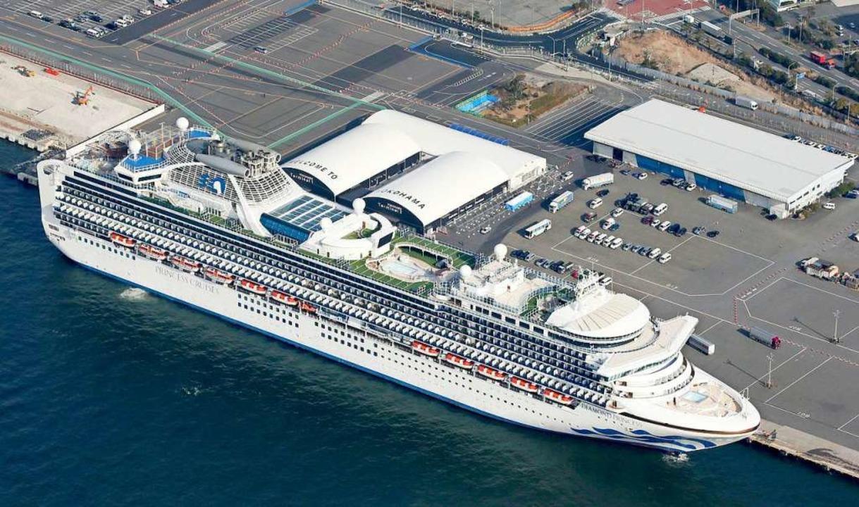 Das Kreuzfahrtschiff «Diamond Princess...neuen Coronavirus festgestellt worden.  | Foto: - (dpa)