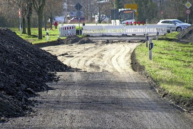 In Staufen werden drei Kreisverkehre gleichzeitig gebaut