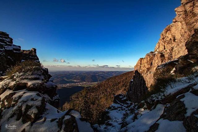 Blick vom Kandelfelsen ins Tal