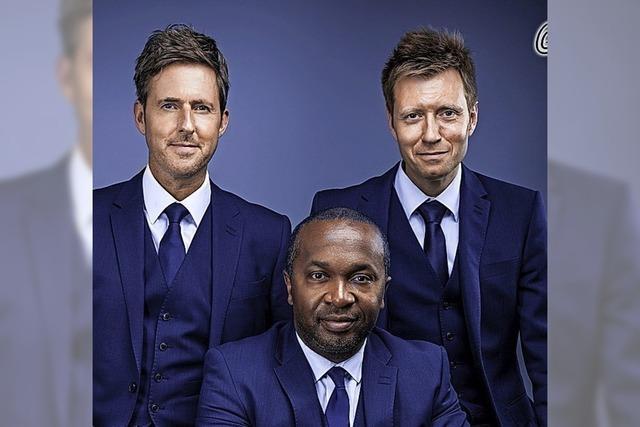Echt britisch: A-cappella-Trio We3 in Weil