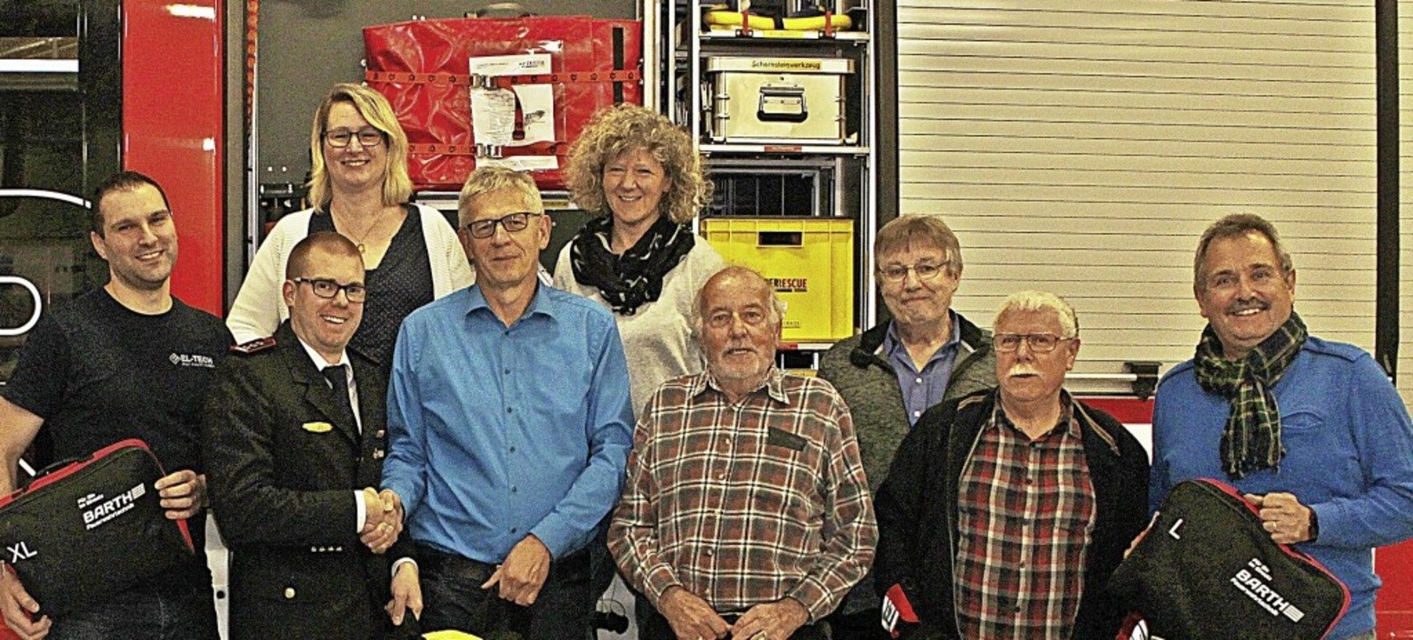 Der Vorstand (von links):   Christophe...fer), Roland Kaiser   (Schriftführer)   | Foto: Rolf Rhein