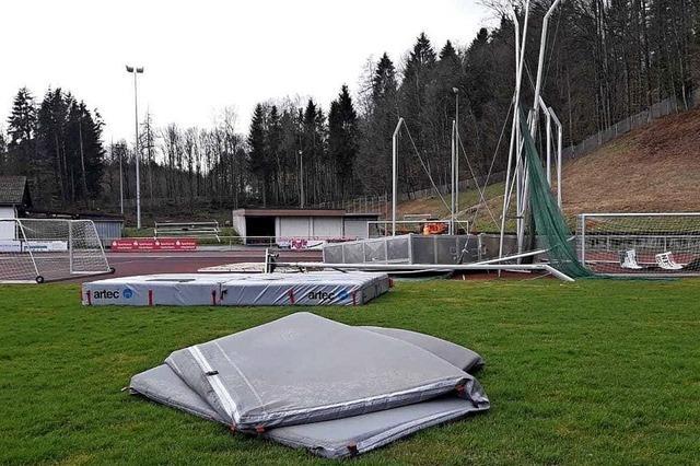 Kraftvoll durchs Stadion gepustet