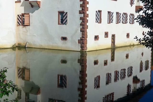 Das Wasserschloss in Inzlingen wird renoviert