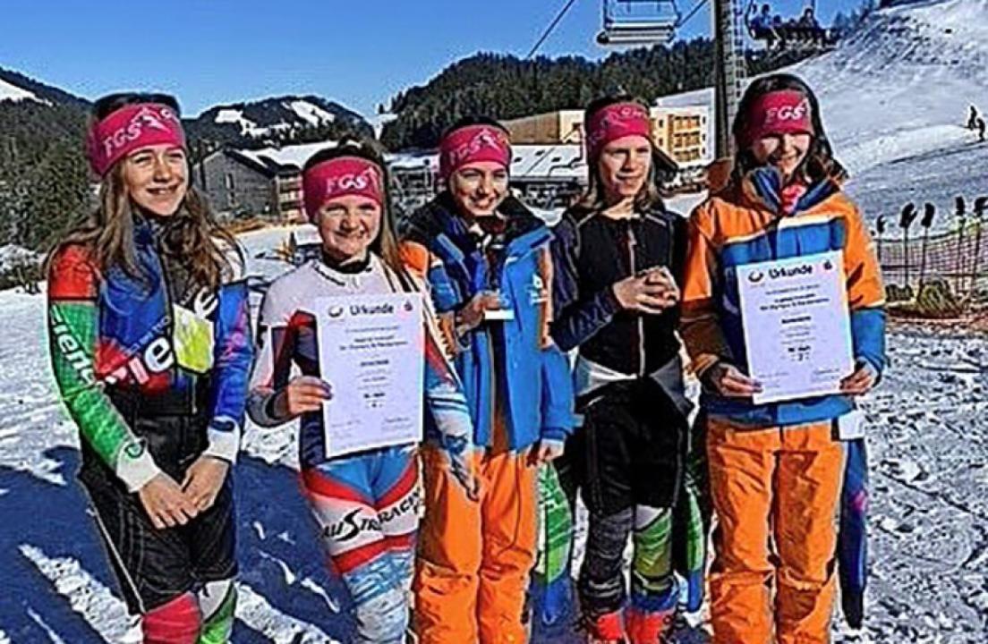 Die erfolgreichen Sportlerinnen der Fü...nen für das Bundesfinale qualifiziert.    Foto: Rainer Böhler