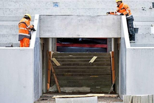 Fotos: Zu Besuch auf der Baustelle des neuen Stadions des SC Freiburg