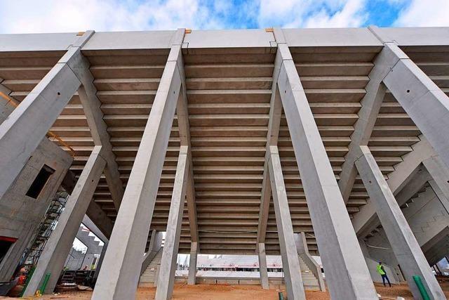 Da ist das Ding: Die Südwand des neuen SC-Stadions ist der Clou