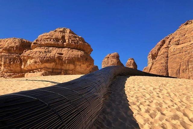 Freie Wüstenkunst in Saudi-Arabien