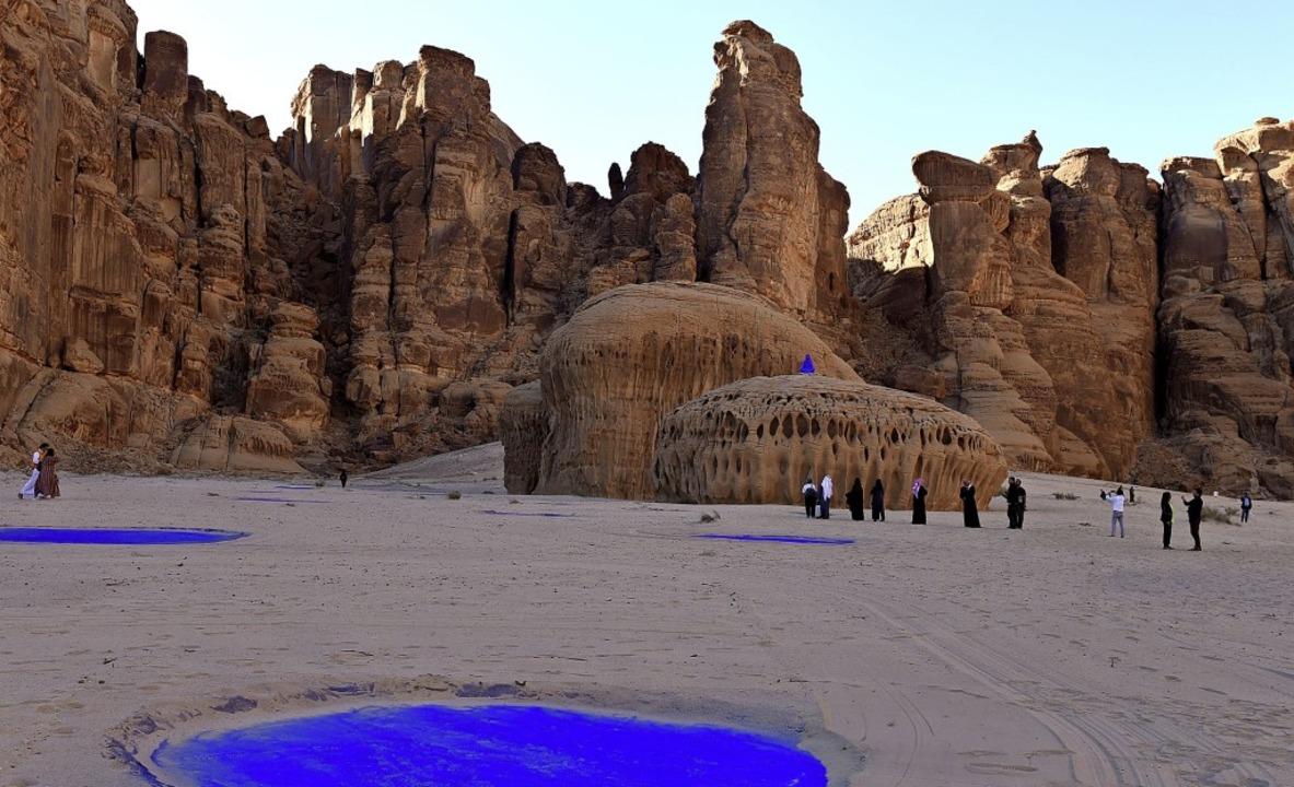 Desert X im saudischen Alula: Installa...autin – in der Wüste platzierte.  | Foto: Katharina Eglau
