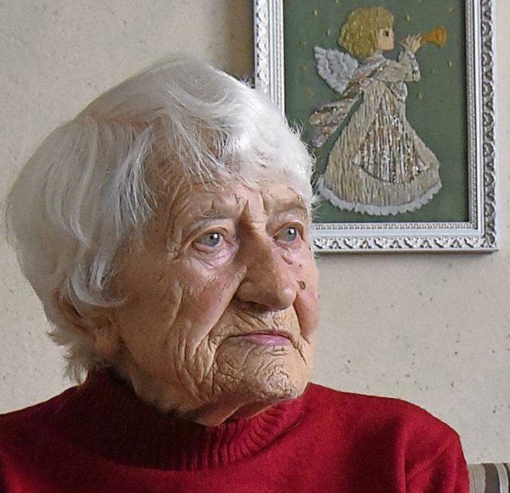 Iryna Bjenko-Schul (101) war im KZ.  | Foto: Till Mayer