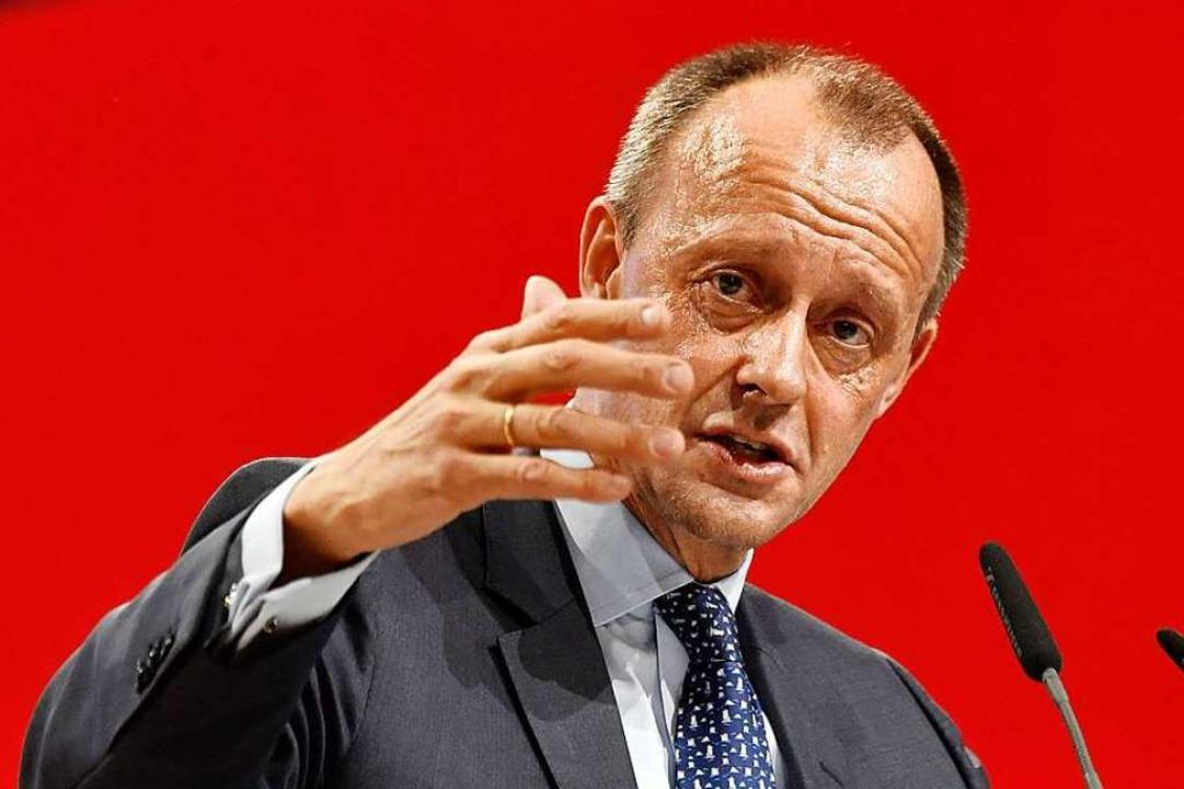 Friedrich Merz im Dezember 2018, als e...einmal CDU-Vorsitzender werden wollte.  | Foto: JOHN MACDOUGALL (AFP)