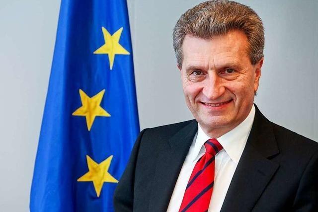 Günther Oettinger kommt zum Wirtschaftstreffen in Weil am Rhein