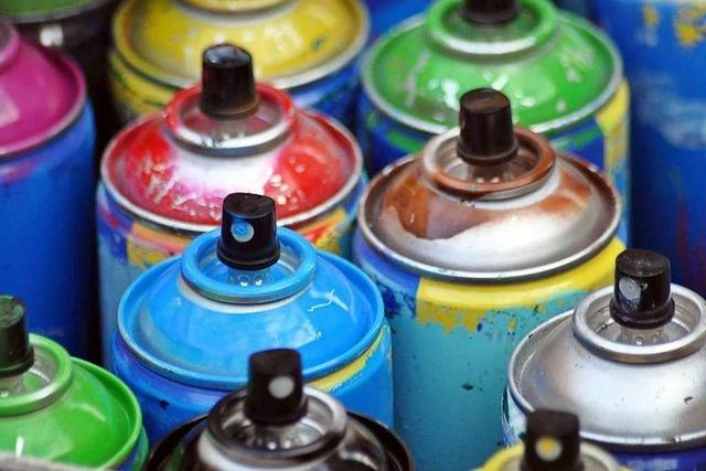 Polizei sucht Sprayer, die in der Wiehre Hauswände besprüht haben sollen
