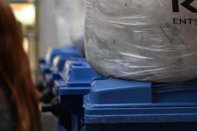 Die Blaue Tonne gibt es im Landkreis Lörrach bald nicht mehr gratis