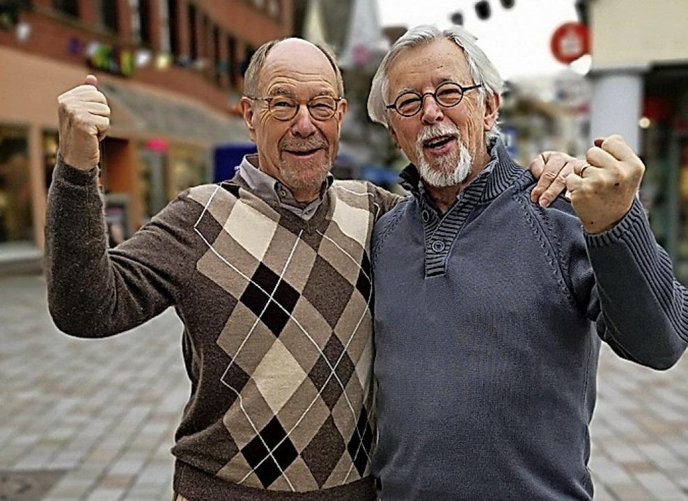 Ulrich Gasser (links) und Hugo Brinkkö...m Preis benachteiligte Kinder stärken.  | Foto: Ralf Burgmaier
