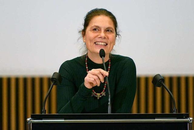 Sarah Wiener referierte im Audimax über nachhaltige Ernährung