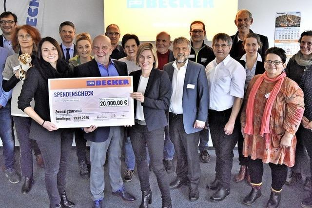 Gerüstbau-Firma Becker spendet 20 000 Euro