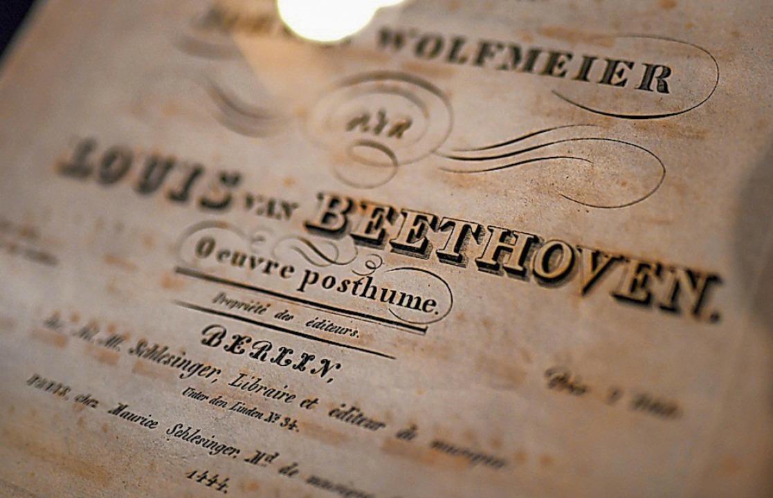 Damals wie heute international: Musik von Beethoven  | Foto: INA FASSBENDER