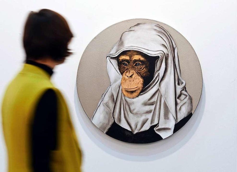 Stefan a Wengen: Le Signe Peintre XXV    Foto: Uli Deck (dpa)