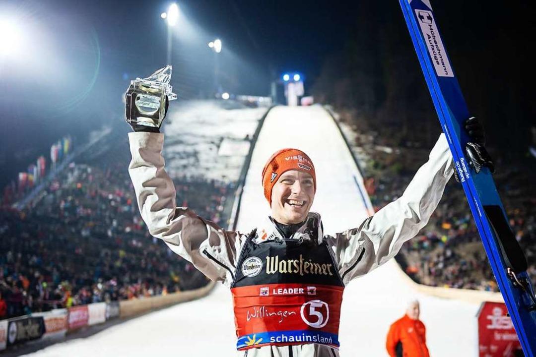 Es ist der bislang größte Erfolg seiner Karriere bei Einzel-Wettkämpfen.  | Foto: Swen Pförtner (dpa)