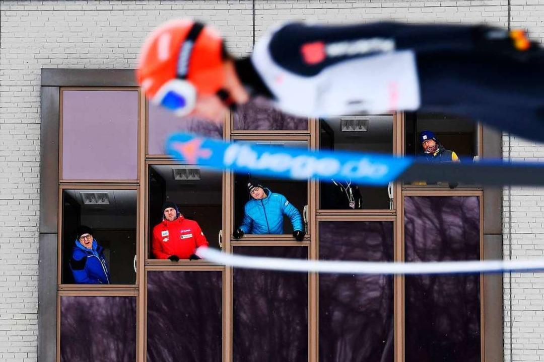 Bei den Wertungsrichtern bekommt er ohnehin in der Regel Top-Noten.  | Foto: CHARLY TRIBALLEAU (AFP)
