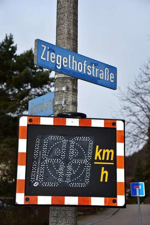 Ab sofort wird in der Ziegelhofstraße Geschwindigkeit gemessen.    Foto: Heinz und Monika Vollmar