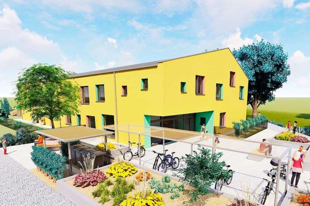 So sehen die ursprünglichen Pläne für ...vier Gruppen in das Gebäude einziehen.  | Foto: Architekturbüro Michler