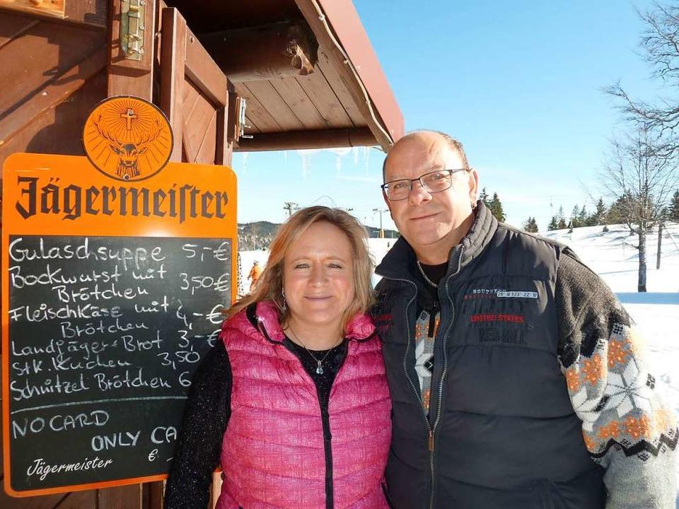 Unter der Woche heißt es für die Gäste... und Kathrin Axtmann: Selbstbedienung.  | Foto: Heidrun Simoneit