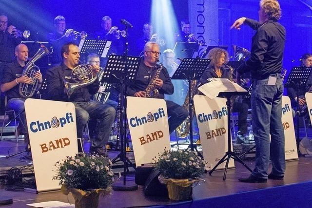 Chnopfi Band spielt im Weiler Kesselhaus Jazzstandards, Rock, Funk und Latin