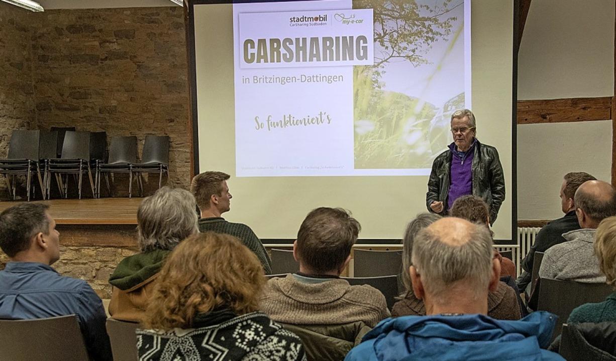Carsharing in Britzingen: Über Form un...-Martin Lübke von Stadtmobil Südbaden.  | Foto: Volker Münch