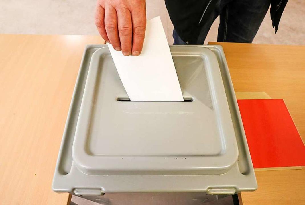Die Wahl ist am Sonntag, 26. April.  | Foto: Jan Woitas (dpa)