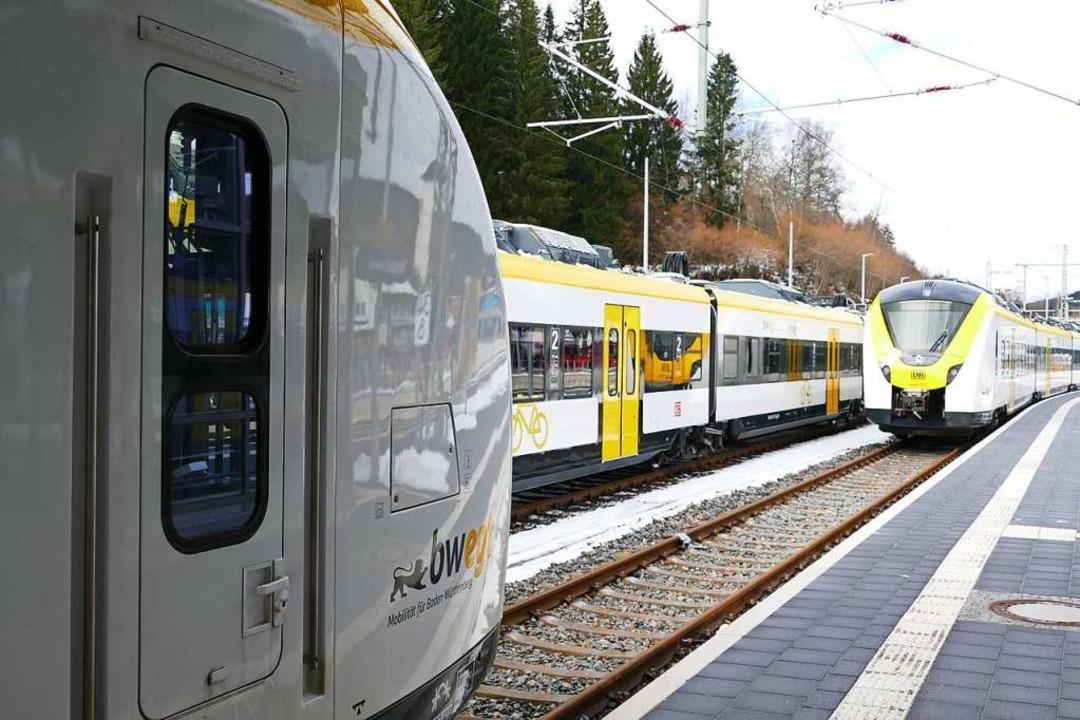 Am Bahnhof in Neustadt sitzen  acht Zü...mmender Woche nicht eingesetzt werden.  | Foto: Tanja Bury