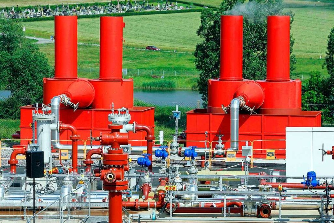 Ein Geothermiekraftwerk  in Soultz im ...ne für Neuried werden weiter verfolgt.  | Foto: Jean-Marc Loos